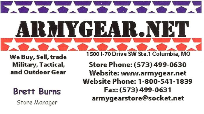 Army Gear surplus and outfitters columbia missouri preferred by todd burke and tactical training specialties