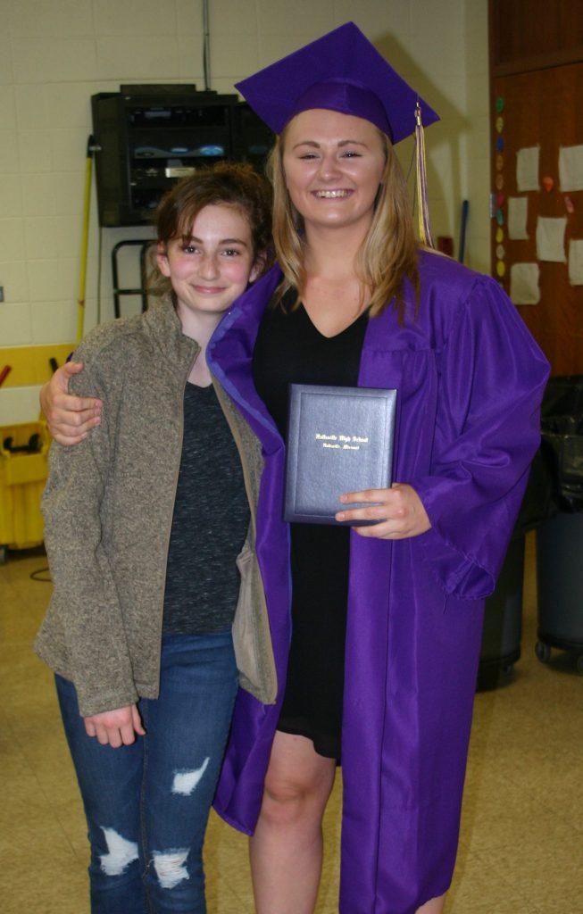 Farley and Fiona at graduation 2017