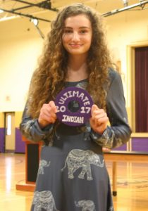 Fiona Burke is the Ultimate Indian 2017 for Hallsville High School in Hallsville Missouri for fitness and strength