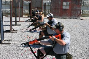 kneeling position from cover or barricade tactical shotgun todd burke tactical training specialties green valley rifle & pistol club hallsville missouri