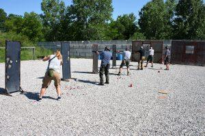standing barricade tactical shotgun todd burke tactical specialites green valley rifle & pistol club hallsville missouri
