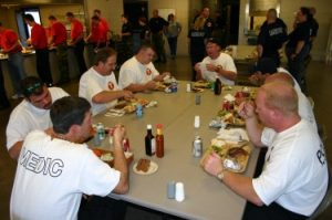Healthy Meal with your Team at Essentials for Tactical Medic Certification with Tactical Specialties and Todd Burke