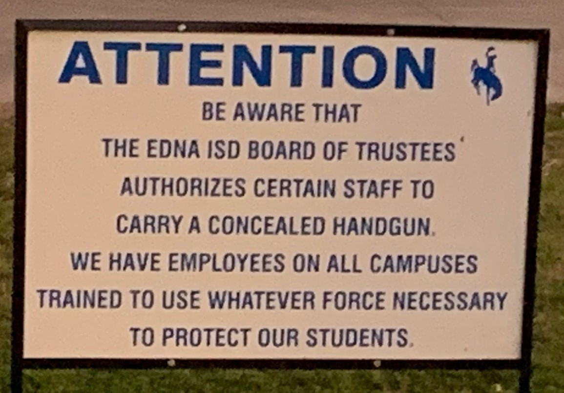 ednda school district supports armed protectors